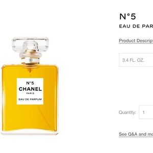 Nib Chanel no 5 3.4 FL oz Eau de parfum